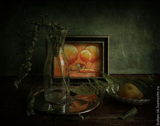 Фотокартины ручной работы. Ярмарка Мастеров - ручная работа. Купить Натюрморт Был пасмурный день.... Handmade. Болотный, оранжевый, желтый