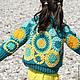 Верхняя одежда ручной работы. Ярмарка Мастеров - ручная работа. Купить Пальто вязанное Ирландское кружево Бирюза. Handmade. Бирюзовый