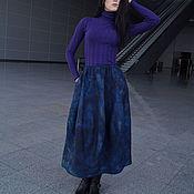 Одежда ручной работы. Ярмарка Мастеров - ручная работа Юбка валяная Синяя. Handmade.