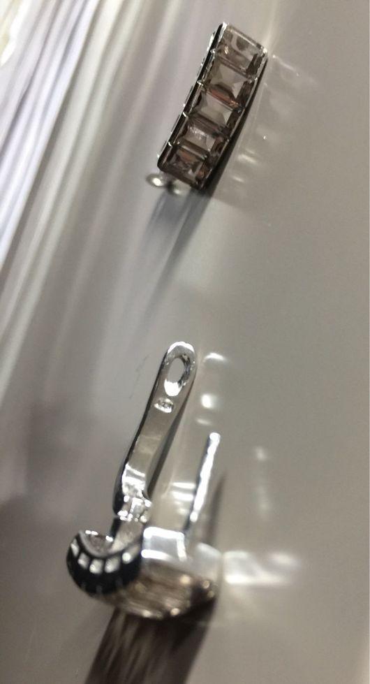 Серьги ручной работы. Ярмарка Мастеров - ручная работа. Купить Серьги серебро 925, дымчатый топаз.. Handmade. Комбинированный
