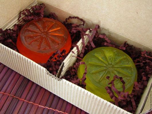 """Подарочные наборы косметики ручной работы. Ярмарка Мастеров - ручная работа. Купить """"Апельсин и лимон"""" набор мыла ручной работы. Handmade."""