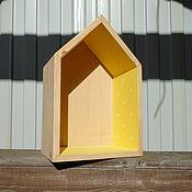 Для дома и интерьера ручной работы. Ярмарка Мастеров - ручная работа Полка-домик. Handmade.