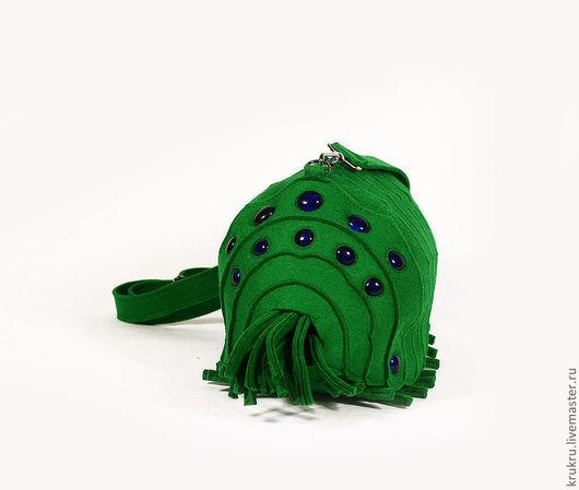 Женские сумки ручной работы. Ярмарка Мастеров - ручная работа. Купить Сумка Маленький Ому. Handmade. Зеленый, небольшая сумка