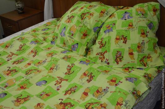Комплект постельного белья изо льна `Винни Пух`