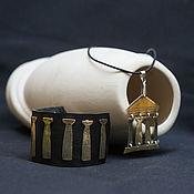 Украшения handmade. Livemaster - original item set the column of a greek temple (bracelet and pendant). Handmade.