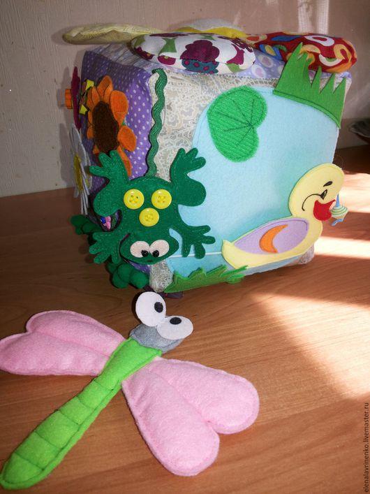 Развивающие игрушки ручной работы. Ярмарка Мастеров - ручная работа. Купить Развивающий кубик №1. Handmade. Комбинированный, мягкая игрушка