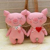 Куклы и игрушки ручной работы. Ярмарка Мастеров - ручная работа Игрушка романтичная свинка. Handmade.