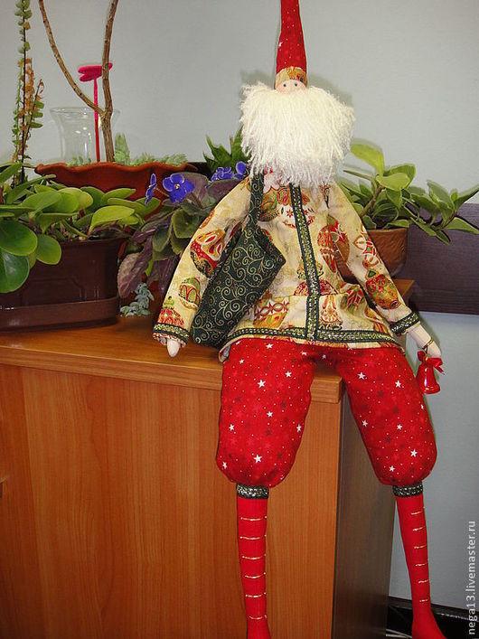 """Куклы Тильды ручной работы. Ярмарка Мастеров - ручная работа. Купить Интерьерная кукла Тильда """"Санта"""". Handmade. Кукла Тильда"""