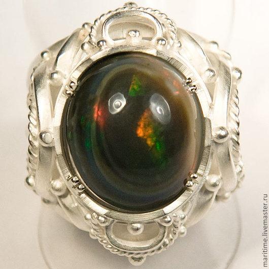 """Кольца ручной работы. Ярмарка Мастеров - ручная работа. Купить Кольцо с благородным опалом """"Винтаж"""". Handmade. Натуральный камень"""