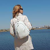 Сумки и аксессуары handmade. Livemaster - original item Backpack female leather white Vesta Mod R23-141. Handmade.
