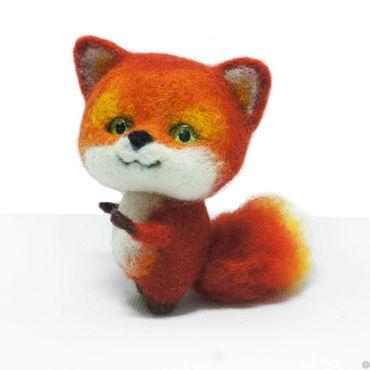 Куклы и игрушки ручной работы. Ярмарка Мастеров - ручная работа Маленькая лисичка Лили. Интерьерная игрушка из шерсти. Handmade.