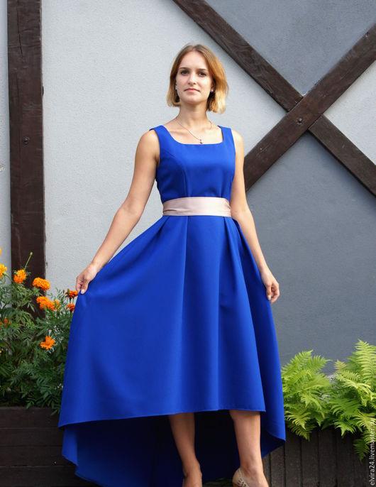 """Платья ручной работы. Ярмарка Мастеров - ручная работа. Купить Платье """"Полина 2"""". Handmade. Тёмно-синий, вечернее платье"""