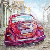 """Картины и панно ручной работы. Ярмарка Мастеров - ручная работа Постер """"Красный жук"""". Handmade."""