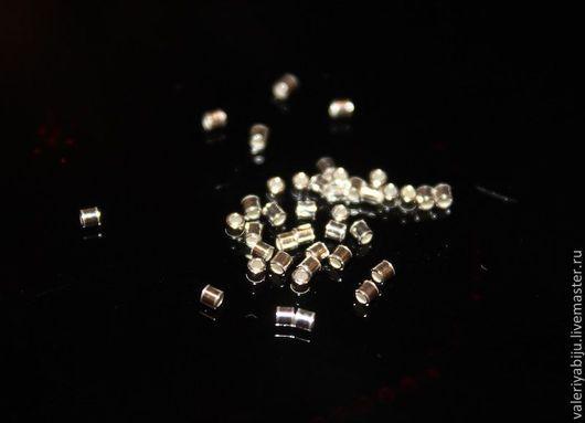 Для украшений ручной работы. Ярмарка Мастеров - ручная работа. Купить Кримпы (1.5 мм) серебро 925. Handmade.