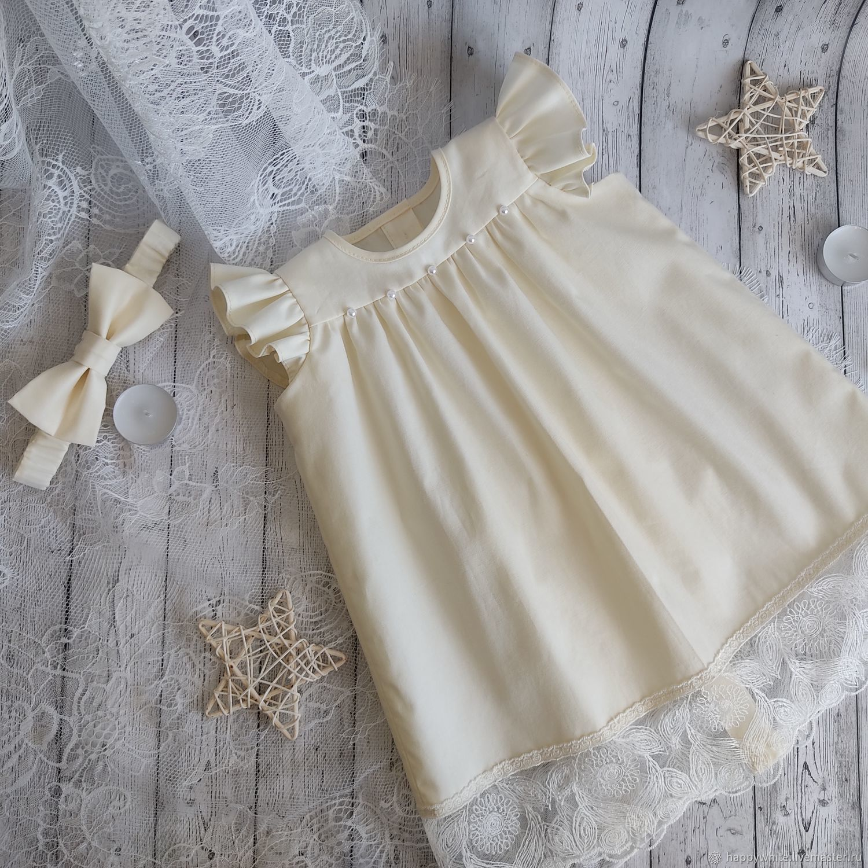 Christening dress 'Lilia', christening dress for girls, Childrens Dress, St. Petersburg,  Фото №1