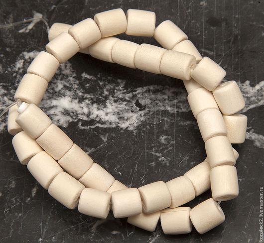 Для украшений ручной работы. Ярмарка Мастеров - ручная работа. Купить Бусины-цилиндры из белого дерева. Handmade. Дерево