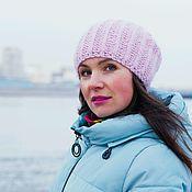 Caps handmade. Livemaster - original item Knitted hat Angy Rose. Handmade.