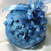 """Подарки к праздникам ручной работы. Ярмарка Мастеров - ручная работа """"Небесно-голубой"""" - шар интерьерный/елочный. Handmade."""
