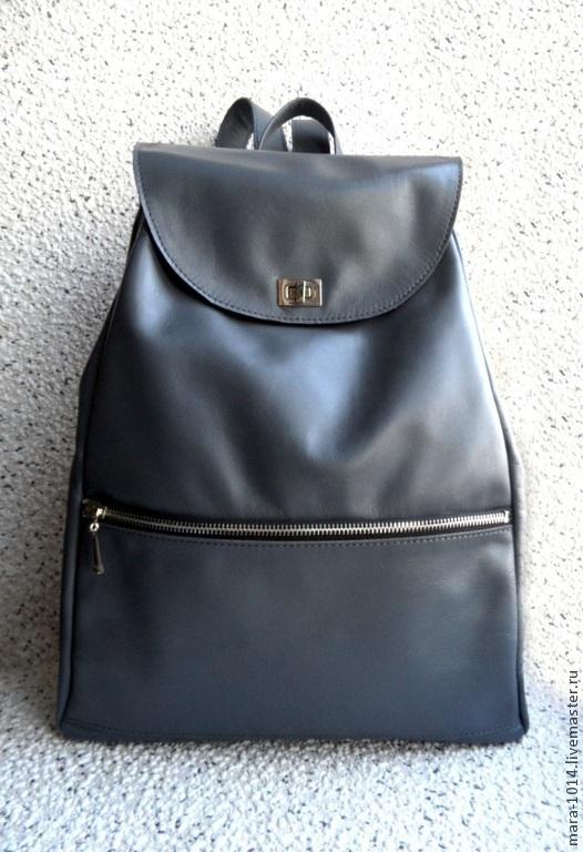 Женские сумки ручной работы. Ярмарка Мастеров - ручная работа. Купить ПИКАБУ грифельный, сумка, рюкзак из кожи. Handmade. Серый