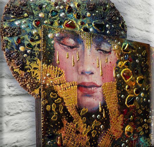 """Люди, ручной работы. Ярмарка Мастеров - ручная работа. Купить Декоративное панно """"Сны....."""" по мотивам работ Angela Betta Casale.... Handmade."""