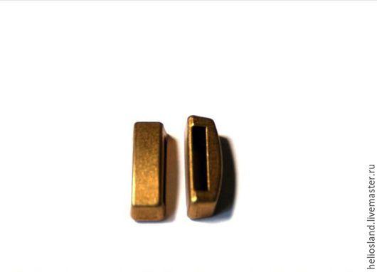 Для украшений ручной работы. Ярмарка Мастеров - ручная работа. Купить Бусины для плоских кожаных шнуров 15 мм. Handmade.