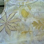 """Одежда ручной работы. Ярмарка Мастеров - ручная работа Майка топ """"Луг"""" , эко принт. Handmade."""