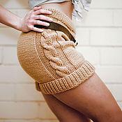 """Одежда ручной работы. Ярмарка Мастеров - ручная работа Шорты вязаные  женские """"Уникальность"""". Handmade."""