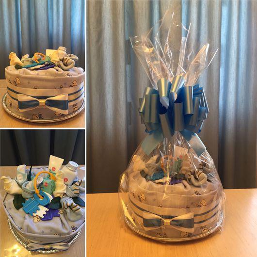 Подарки для новорожденных, ручной работы. Ярмарка Мастеров - ручная работа. Купить Торт из подгузников. Handmade. Торт из памперсов, тортик