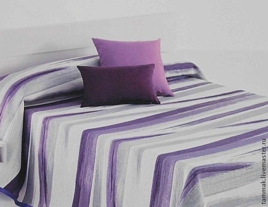 """Текстиль, ковры ручной работы. Ярмарка Мастеров - ручная работа. Купить Покрывало разнофактурное двустороннее """"полосы"""". Handmade. Покрывало на кровать"""