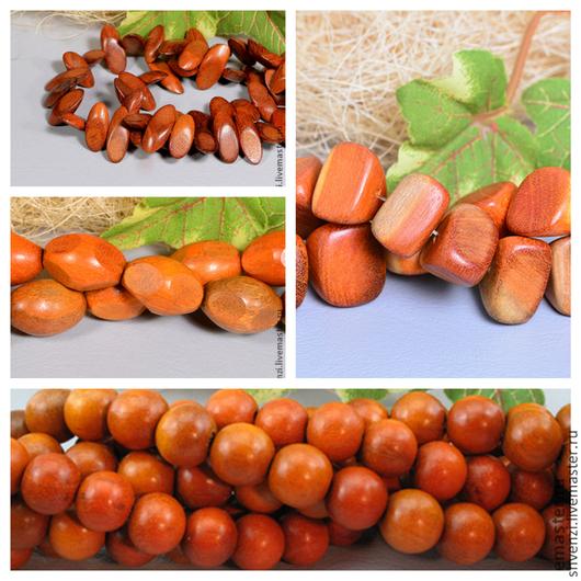 Бусины красное дерево в ассортименте Производство Филиппины.