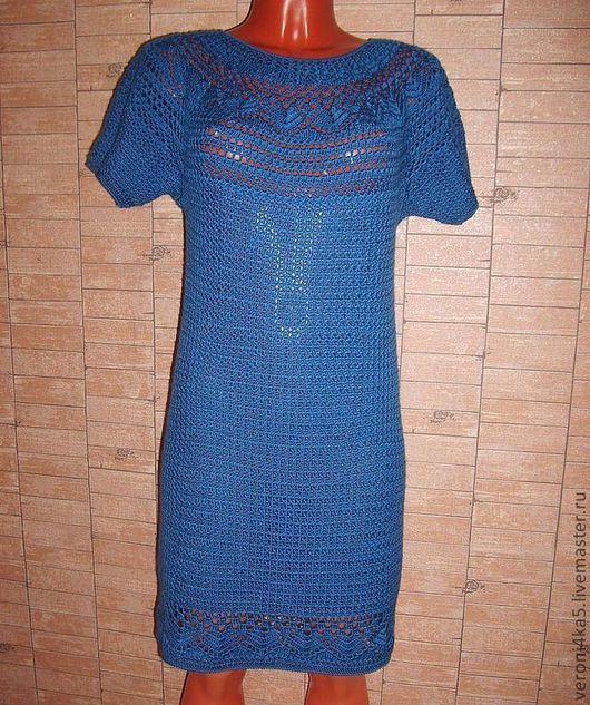 Платья ручной работы. Ярмарка Мастеров - ручная работа. Купить Синее платье. Handmade. Тёмно-синий, платье крючком