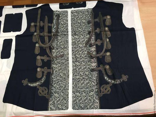Шитье ручной работы. Ярмарка Мастеров - ручная работа. Купить Итальянская ткань. Хлопок с готовой выкройкой жакета (пиджака). Handmade.