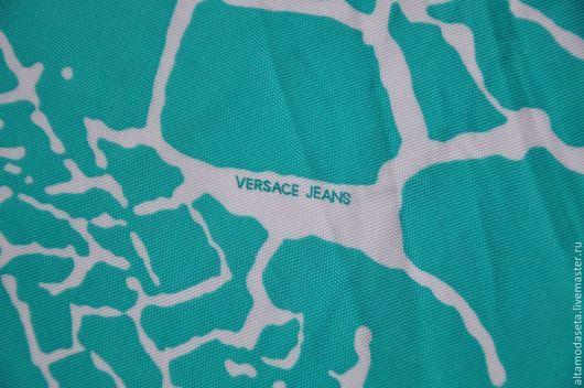 """Шитье ручной работы. Ярмарка Мастеров - ручная работа. Купить Трикотаж вискозный """"Versace Jeans"""". Handmade. Ткани для рукоделия"""