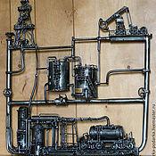 Картины и панно ручной работы. Ярмарка Мастеров - ручная работа Нефть: добыча, транспортировка, переработка. Handmade.