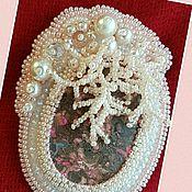 """Украшения handmade. Livemaster - original item Брошь """"Коралловый риф"""" из родонита.. Handmade."""