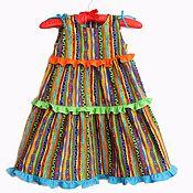 Работы для детей, handmade. Livemaster - original item Dress for girls colorful from American cotton. Handmade.