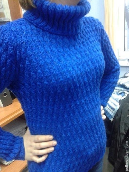 """Кофты и свитера ручной работы. Ярмарка Мастеров - ручная работа. Купить Свитер """"Василек"""". Handmade. Тёмно-синий, свитер женский"""
