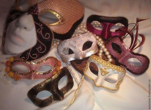 Интерьерные  маски ручной работы. Ярмарка Мастеров - ручная работа. Купить Маска - елочное украшение, декор для интерьера. Handmade. Маски