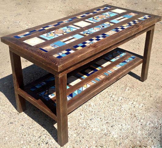 """Мебель ручной работы. Ярмарка Мастеров - ручная работа. Купить Стол """"Калейдоскоп"""". Handmade. Стол из дерева, керамика ручной работы"""