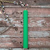 Фен-шуй и эзотерика handmade. Livemaster - original item Green wax candles made of wax, 20cm. Handmade.