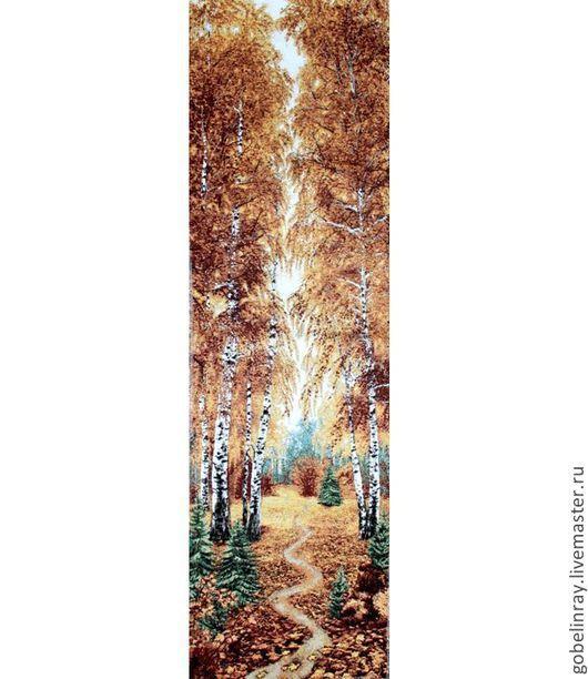 Шитье ручной работы. Ярмарка Мастеров - ручная работа. Купить Осенний  лес: гобеленовая заготовка без оверлока, 110-35 см. Handmade.