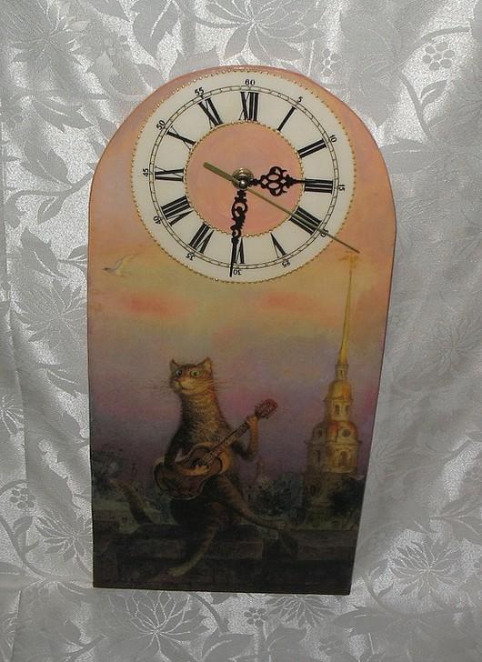 """Часы для дома ручной работы. Ярмарка Мастеров - ручная работа. Купить Настенные часы """"Самый симпатичный во дворе"""". Handmade."""