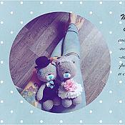 Материалы для творчества ручной работы. Ярмарка Мастеров - ручная работа Мастер-класс по вязанию свадебных мишек тедди. Handmade.