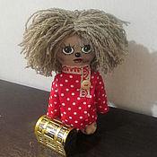 Куклы и игрушки ручной работы. Ярмарка Мастеров - ручная работа Домовенок Кузя и сундук со сказками. Handmade.