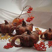 Чайники ручной работы. Ярмарка Мастеров - ручная работа Керамический чайник-тыква. Handmade.