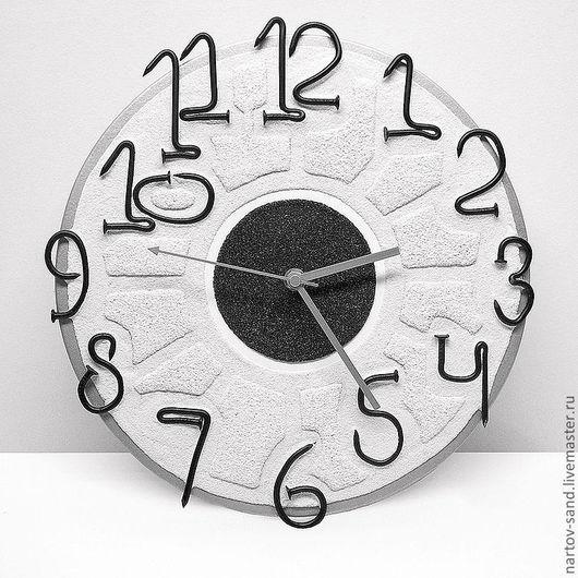 """Часы для дома ручной работы. Ярмарка Мастеров - ручная работа. Купить """"МАСТЕРСКАЯ ВРЕМЕНИ"""" из песка авторские часы. Handmade."""