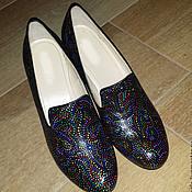 """Обувь ручной работы. Ярмарка Мастеров - ручная работа Туфли """"Вдохновение"""" роспись по коже. Handmade."""