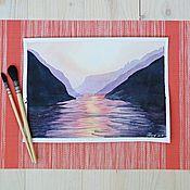 """Картины и панно ручной работы. Ярмарка Мастеров - ручная работа """"Закат"""". Handmade."""