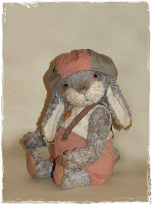 Мишки Тедди ручной работы. Ярмарка Мастеров - ручная работа. Купить Заяц серый,куда бегал..... Handmade. Комбинированный, мишка