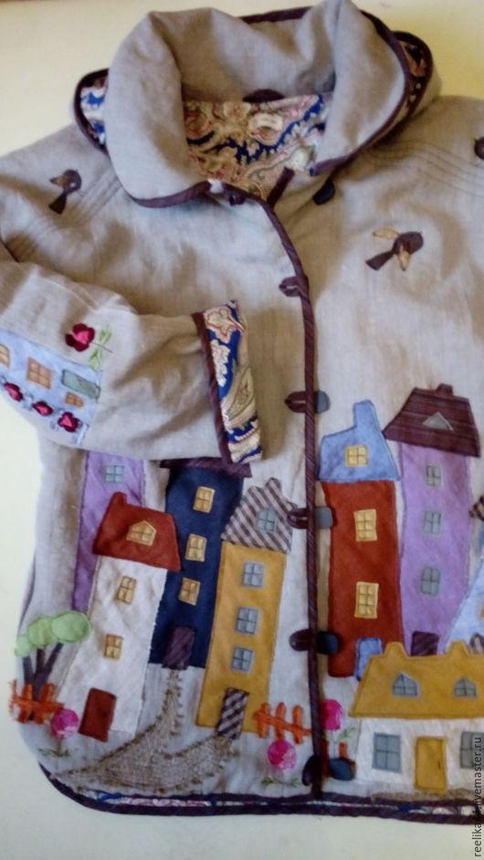 """Верхняя одежда ручной работы. Ярмарка Мастеров - ручная работа. Купить Куртка из льна """" Города 2,5"""". Handmade."""